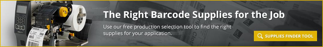 Zebra Barcode Supplies Finder